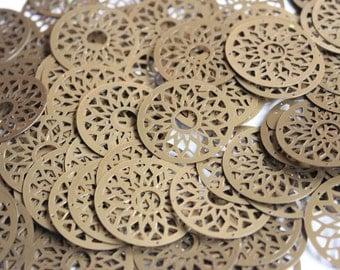20 Metallic Golden sequins / KBRS005