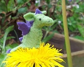 Tiny Dragon - miniature dragon - felt dragon - stuffed dragon plush - otherkin - dragon totem