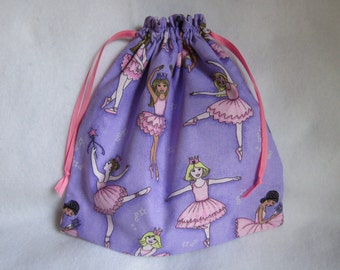 Ballerina Reversible Drawstring Bag