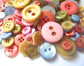 200 Pastel Buttons Pink Buttons Peach Buttons Yellow Buttons Green Buttons Blue Buttons Spring Crafts Easter Crafting Mixed Buttons Pas01