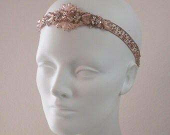 Blush Beauty Flapper Beaded Headband