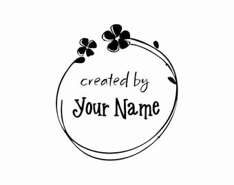 Handle Mounted Personalized custom made rubber stamps C25 scrapbook