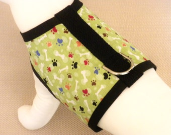 Green Bones And Paws Dog Harness Vest