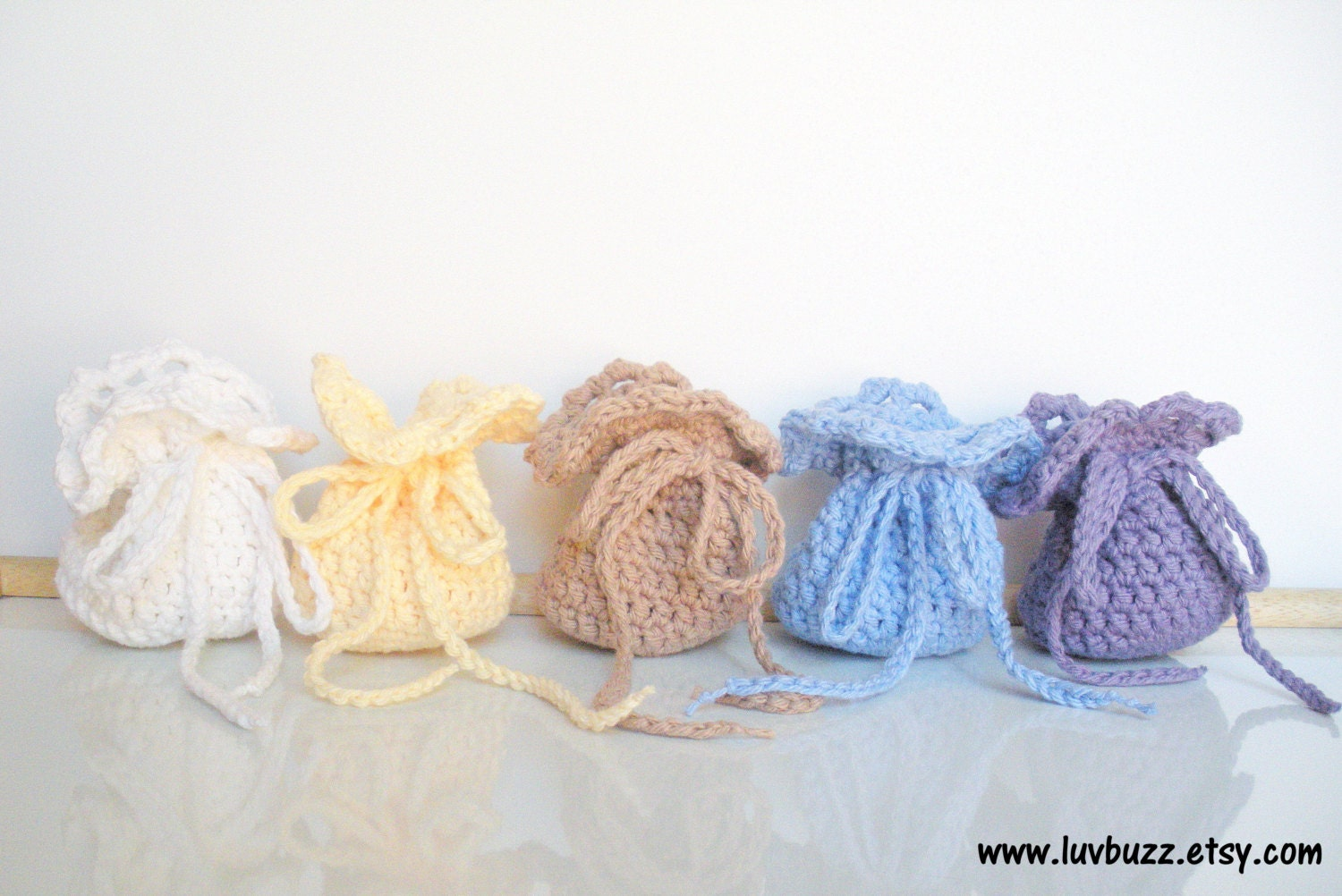 Knitted Wedding Gifts: Crochet Wedding Favor Bags Set Of 20 Or More Party By Luvbuzz