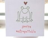 Frog Valentines, Childrens Valentines, Unfrogettable Valentines