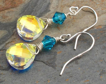 Swarovski Crystal Sterling Silver Earrings - Bohemian Bling