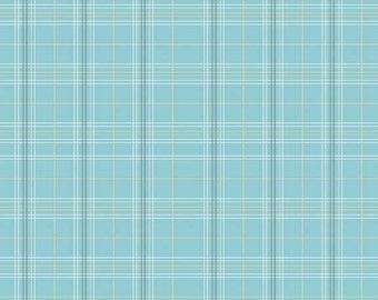 Life in the Jungle Plaid in Blue by Riley Blake Designs - 1 Yard