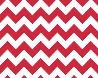 Medium Chevron in Red by Riley Blake - 1 yard