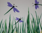 Dragonfly Wall Hanging Tile 6x6