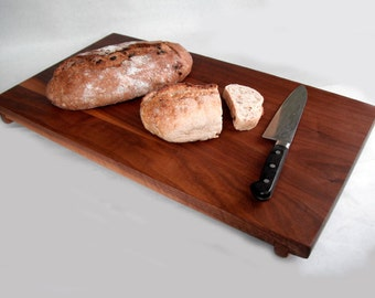 Reclaimed large black walnut serving/cutting board Made to Order