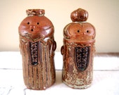 Vintage Ceramic Japanese King and Queen Salt and Pepper Shakers... A Royal Pair