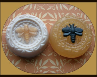 HONEY BEE SOAPS - Guest Soap - Art Soap - Gift Soap - Decoration - Wild Mountain Honey Scent - Glycerin - Detergent Free - Hand Made