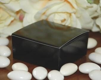 Black Medium Favor Boxes - Set of 10