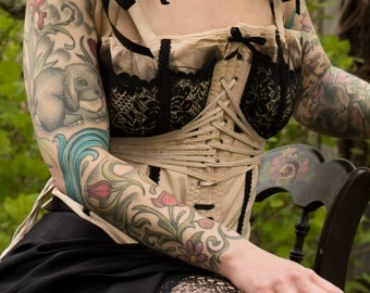 Upcycled Vintage 1920s Corset Lace - Lingerie - Valentine's Day