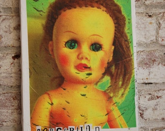 Creepy Photography, Doll, Original Art on Canvas
