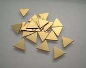 24 tiny flat brass triangle charms/stamping blanks, 5/16""