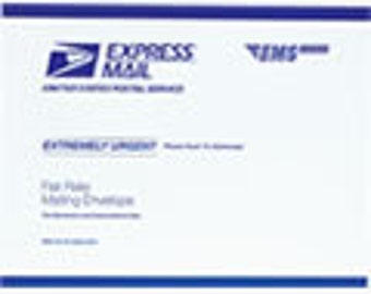 Upgrade to USPS EXPRESS Mail - Select to Ship US Express Mail - United States Domestic Shipping Only