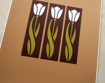Arts and Crafts Style,Tulip Art print