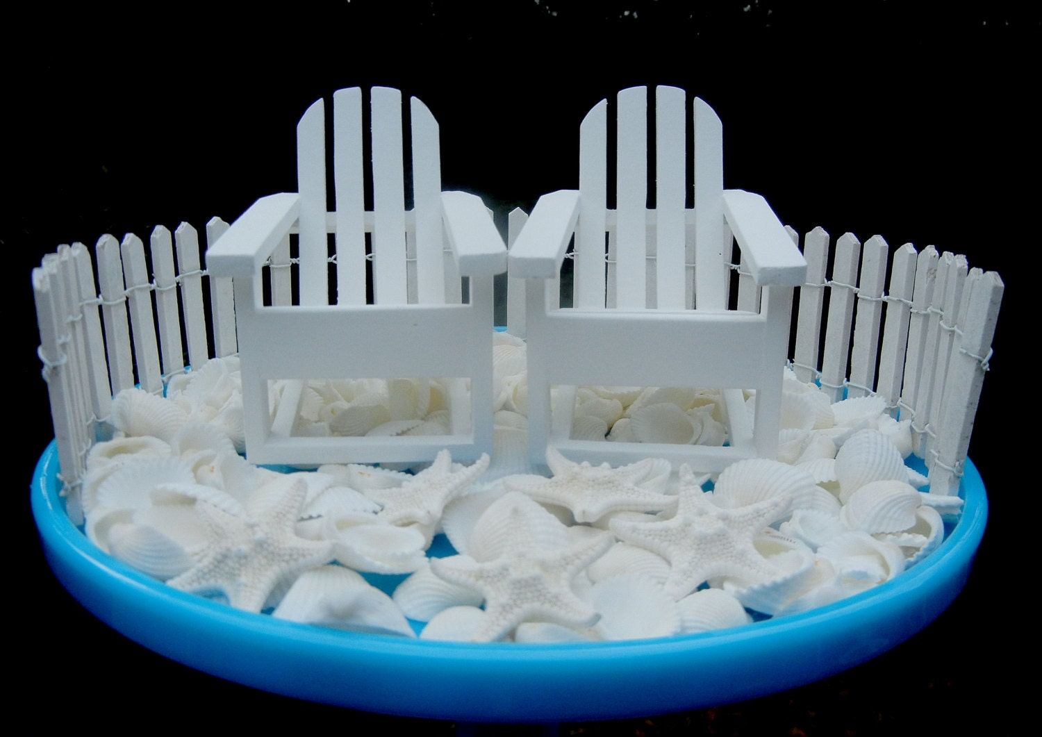 Diy cake topper kit beach wedding adirondack chairs