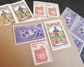 Take Me Out .. Baseball .. UNused Vintage Postage Stamps  .. post 5 letters