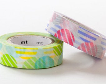 mt Washi Masking Tape - Pink & Green Arch - Set 2