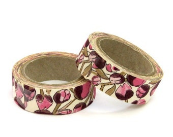 Liberty of London Fabric Masking Tape - Eliza's in Pink - Set 2