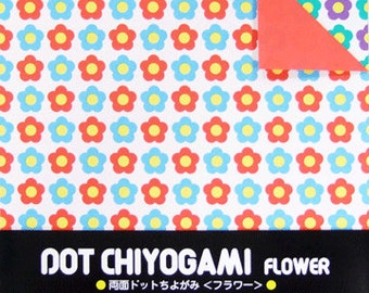 Japanese Double-Sided Origami Paper - Flowers - 15cm (6 inches)