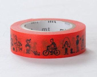 mt Washi Masking Tape - Orange Kids - Olle Eksell