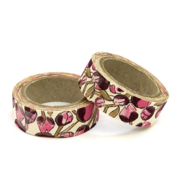 Liberty of London Fabric Masking Tape - Eliza\'s in Pink - Set 2 ...