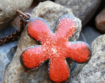 enamel pendant...  flower...  Jan 04