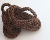 Crochet Baby Sandals - Baby Flip Flops - Baby Boy Sandals - Crochet Baby Shoes - Baby Summer Shoes - Crochet Baby Booties size 6 - 12 mo