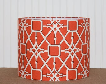 Drum Lamp Shade Lampshades Coral Trellis Waverly