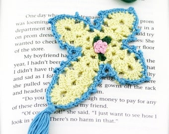 Prayer cross crochet bookmark