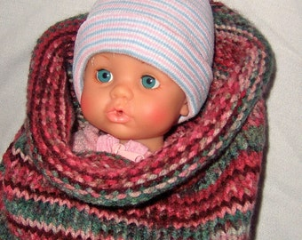 Baby Cocoon - Cranberry Stripe - Christmas