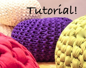 UPDATED! Super Chuky Knit Pouf Pattern - Downloadable PDF TUTORIAL