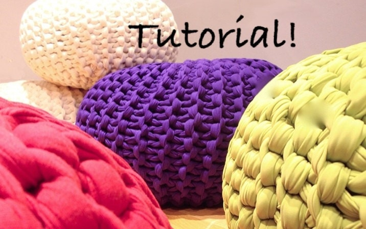 UPDATED Super Chuky Knit Pouf Pattern Downloadable PDF