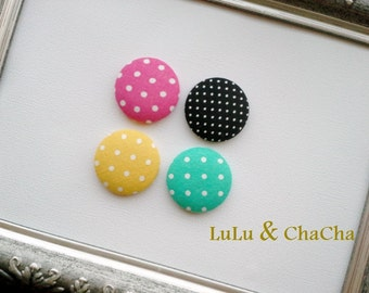 Set of Four Covered Buttons--Interchangeable SNAP Accessories