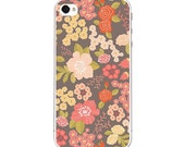 ON SALE Iphone 4, 4s or 5 Decal and Clear (hard) protective case or cover - Stormy Bouquet