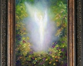 Healing Angel Art Print, Spiritual Art, Framed and Signed From the Original oil painting by Marina Petro