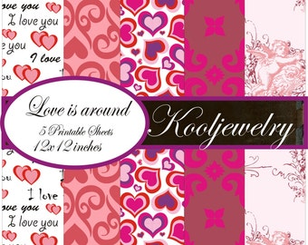 Love is around Paper Pack - No. 81