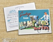 Save the Date Postcard The Hamptons New York Bicycle