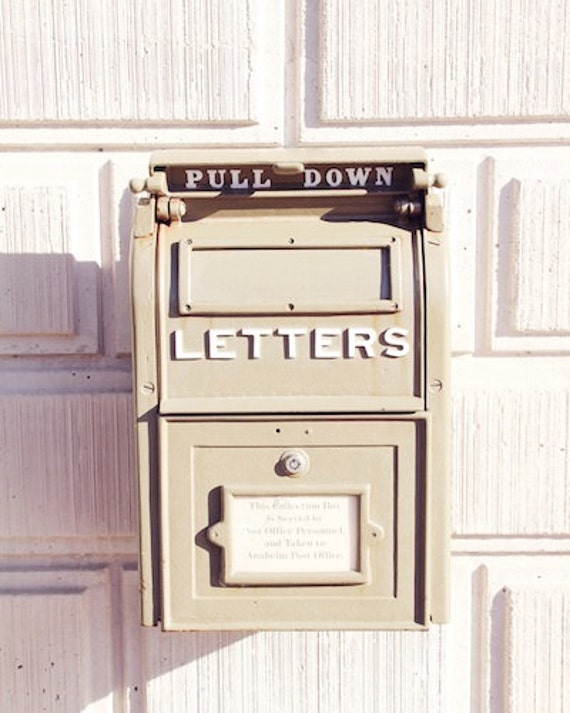 letter box art print mail box love letters post cards packages