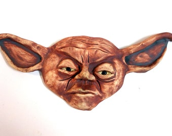 Yoda Ceramic Wall Mask