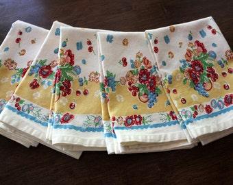 Floral Dish Towel in Granny's Garden Print