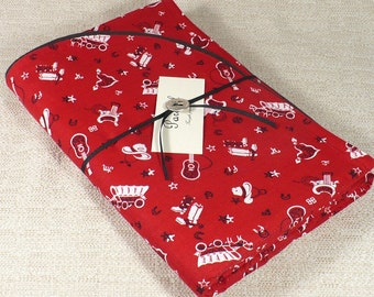 Blanket and pillow sham, nap time, Red Bandana, Western print, baby blanket, gender neutral, preschool