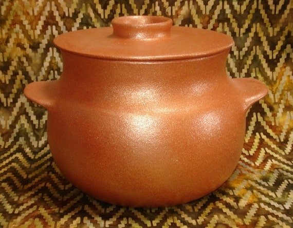 Bean Pot 5 Qt Handcoiled Casserole Pottery Cookware Ceramic