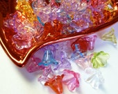 20  Assorted Acrylic Lucite Flower Bead Mix  11mm