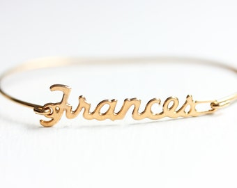 Vintage Name Bracelet - Frances