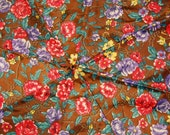 Flowers and Chains Multicolored Upcycled Umbrella Dog Rain Coat