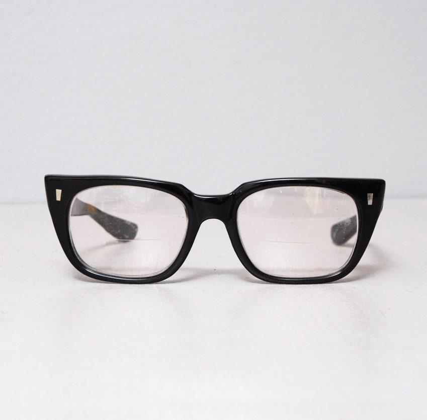 Glasses Frames Thick Black : 1950s Glasses Black Thick Frame Eye Glasses Buddy Holly